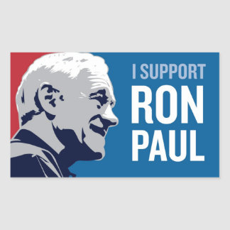 Support Ron Paul Rectangular Sticker