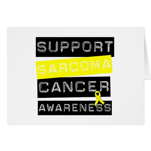 Support Sarcoma Cancer Awareness Cards