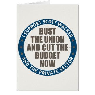 Support Scott Walker Card