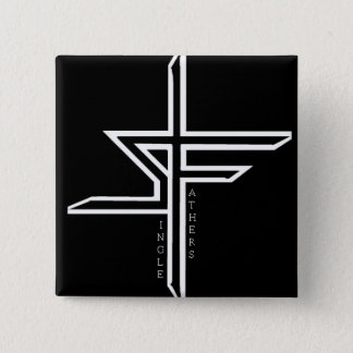 Support Single Fathers 15 Cm Square Badge