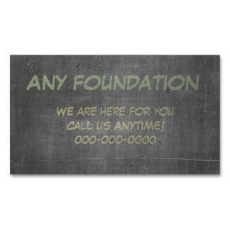 Support Sponsor Contact Us Anytime Magnetic Business Cards (Pack Of 25)