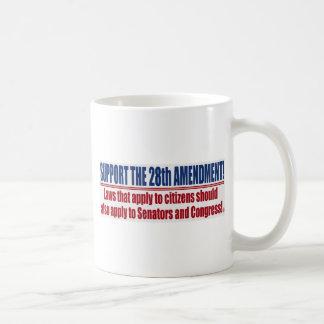 Support the 28th Amendment Basic White Mug
