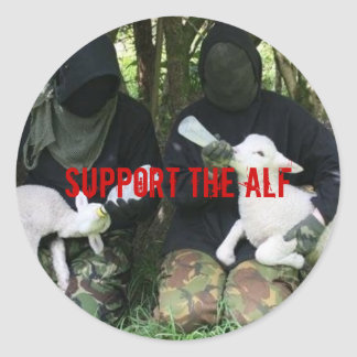 Support the ALF Round Stickers