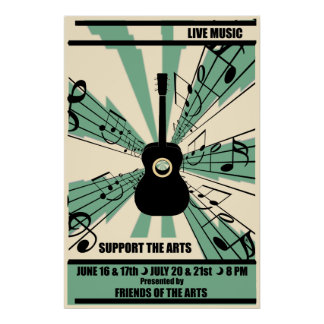 Music posters from Zazzle