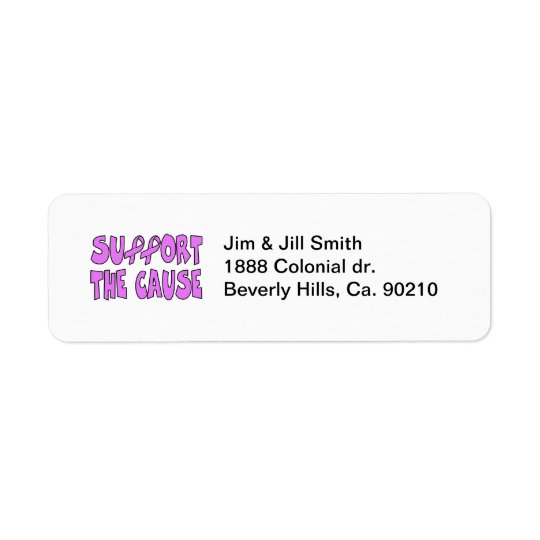 Support The Breast Cancer Cause Return Address Label