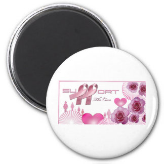Support The cure, Breast Cancer Awareness 6 Cm Round Magnet