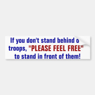 support the military car bumper sticker