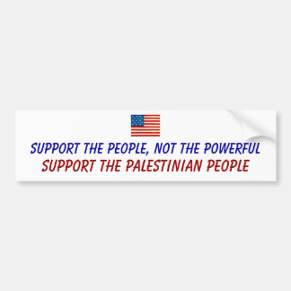 Support The Palestinian People Bumper Sticker
