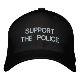SUPPORT THE POLICE Cap by eZaZZleMan.com Embroidered Cap