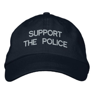 SUPPORT THE POLICE Cap by eZaZZleMan.com Embroidered Hat