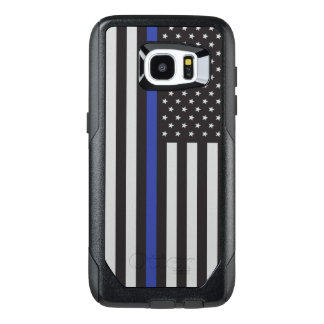 Support the Police Thin Blue Line American Flag
