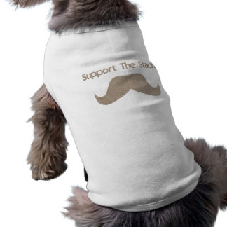 Support The Stache Sleeveless Dog Shirt