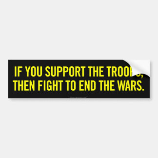 Support The Troops Bumper Sticker