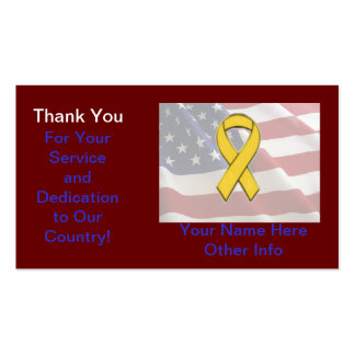 Support The Troops Card Business Card