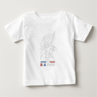 Support The Troops - USA American Pride Baby T-Shirt