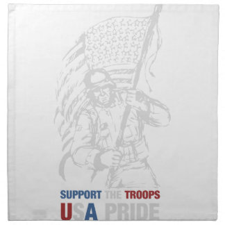 Support The Troops - USA American Pride Cloth Napkin