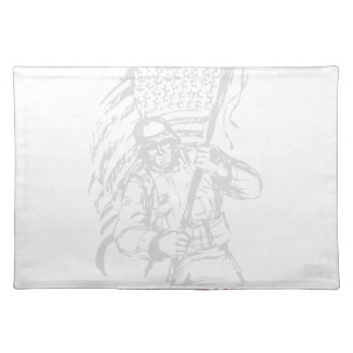 Support The Troops - USA American Pride Placemat
