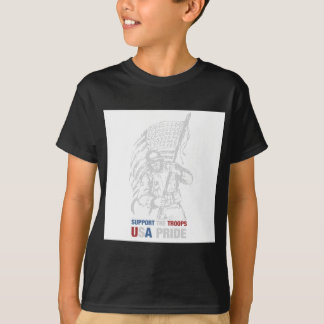 Support The Troops - USA American Pride T-Shirt