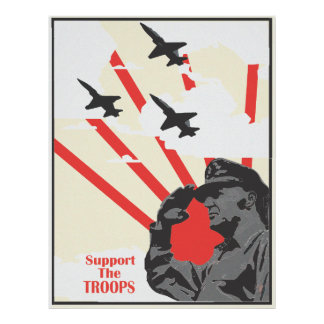 Support The Troops Vintage Poster