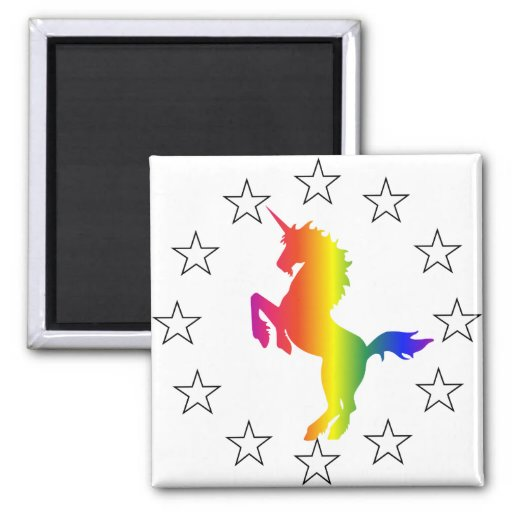 Support the Unicorn Party: Unicorns for Congress Magnets