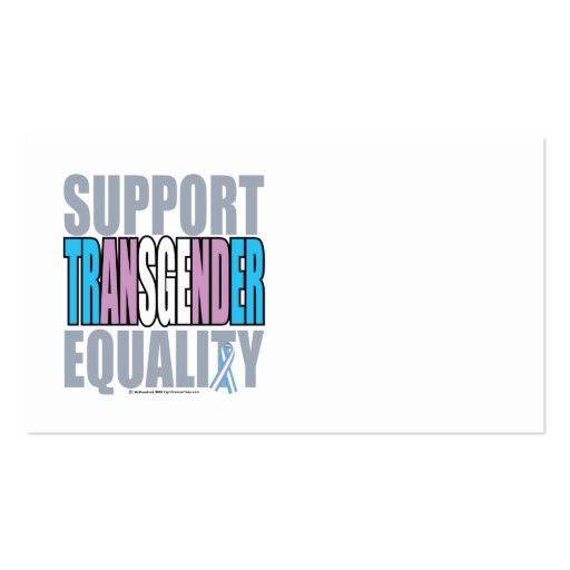 Support Transgender Equality Business Cards