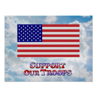 Support Troops Flat - Poster