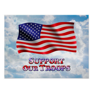 Support Troops Wavy - Poster