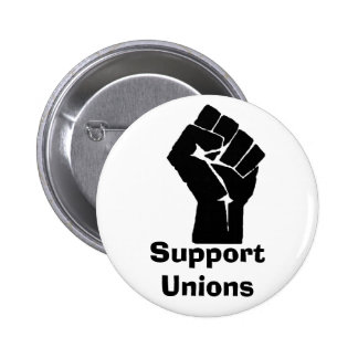 Support Unions 6 Cm Round Badge