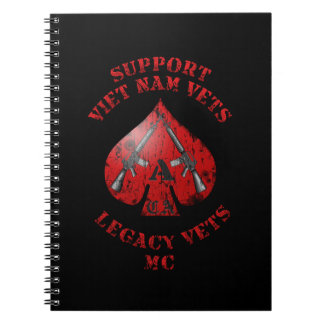 Support Viet Nam / Legacy Vets MC Binder with Logo Notebook