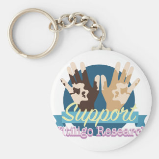 Support Vitiligo Research Key Ring