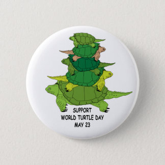 Support World Turtle Day Button
