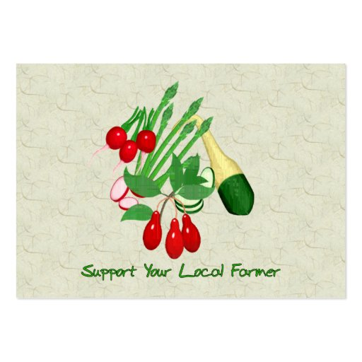 Support Your Local Farmer Business Cards