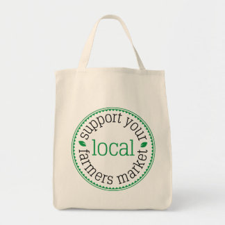 Support Your Local Farmers Market Grocery Tote Bag