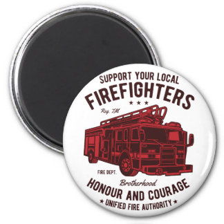 Support your local Fire Fighters Magnet