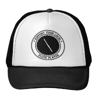 Support Your Local Flute Player Hats