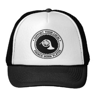 Support Your Local French Horn Player Mesh Hats