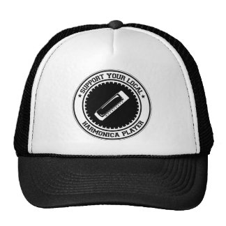 Support Your Local Harmonica Player Trucker Hat