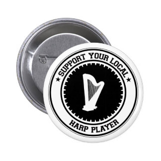 Support Your Local Harp Player Buttons