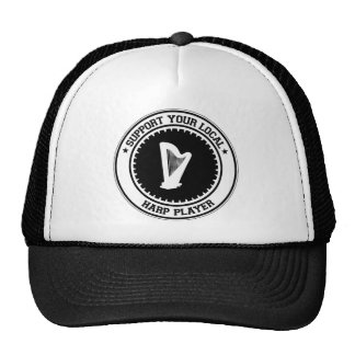Support Your Local Harp Player Hats
