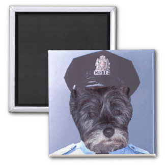 Support Your Local Police ! (Dog) Cairn Terrier Square Magnet