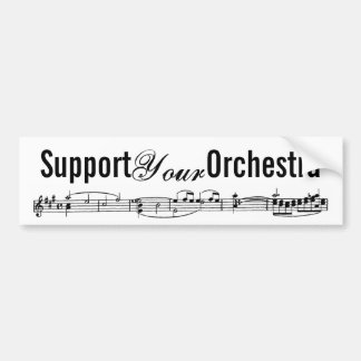 Support Your Orchestra Bumper Sticker