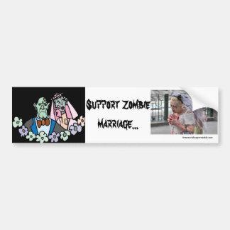 Support Zombie marriage Bumper Sticker