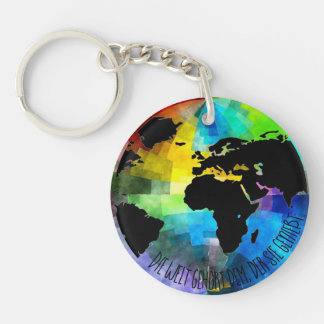 """Supporter """"Die Welt belongs to that, which enjoys Key Ring"""