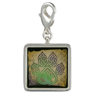 Supporter, dog paw, Celtic knot, flowers