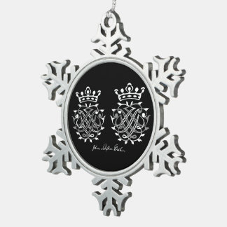 Supporter with Johann Sebastian Bach seal Snowflake Pewter Christmas Ornament