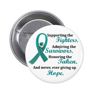 Supporting Admiring Honoring 2 OVARIAN CANCER 6 Cm Round Badge