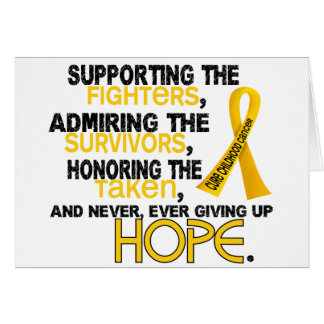 Supporting Admiring Honoring 3.2 Childhood Cancer Card