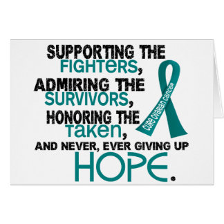 Supporting Admiring Honoring 3.2 Ovarian Cancer Greeting Card