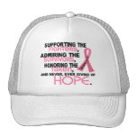 Supporting Admiring Honouring 3.2 Breast Cancer Cap