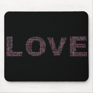 Supporting Loved Ones (Pink Text) Mouse Pad